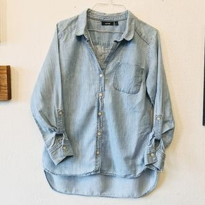 Apt 9 chambray button down top